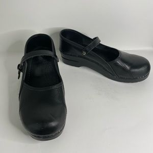 Dansko | 39 | Black Mary Jane Clogs